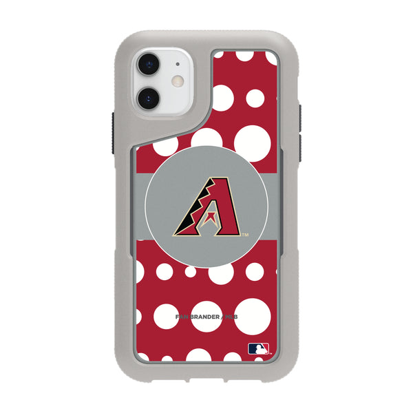 Griffin Survivor Endurance cool grey Phone case with Arizona Diamondbacks Primary Logo with Polka Dots