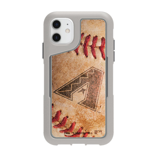 Griffin Survivor Endurance cool grey Phone case with Arizona Diamondbacks Primary Logo and Baseball Design
