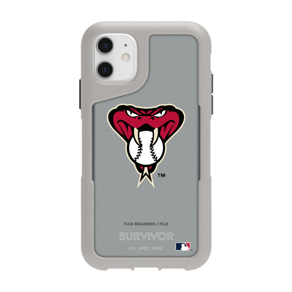 Griffin Survivor Endurance cool grey Phone case with Arizona Diamondbacks Secondary Logo