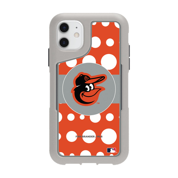 Griffin Survivor Endurance cool grey Phone case with Baltimore Orioles Primary Logo with Polka Dots