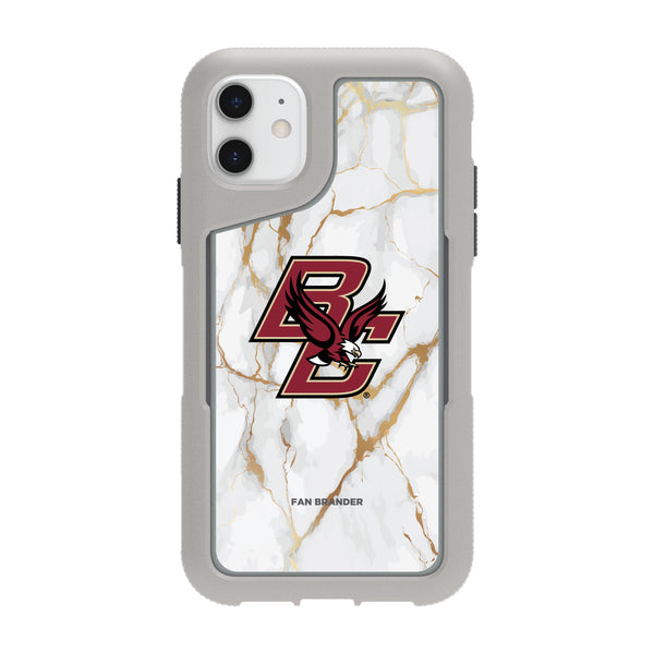 Griffin Survivor Endurance cool grey Phone case with Boston College Eagles White Marble design