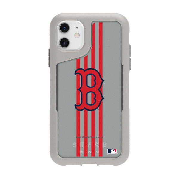 Griffin Survivor Endurance cool grey Phone case with Boston Red Sox Primary Logo with Vertical Stripe