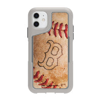 Griffin Survivor Endurance cool grey Phone case with Boston Red Sox Primary Logo and Baseball Design