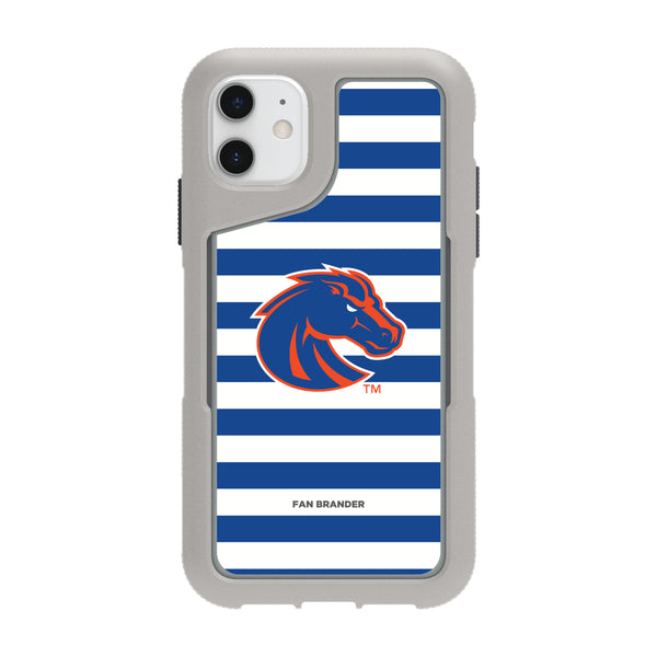 Griffin Survivor Endurance cool grey Phone case with Boise State Broncos Stripes Design