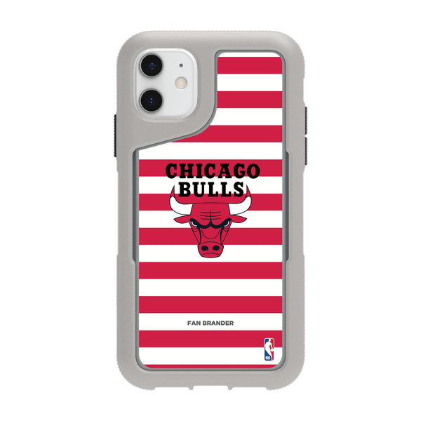 Griffin Survivor Endurance cool grey Phone case with Chicago Bulls Primary Logo with Stripes