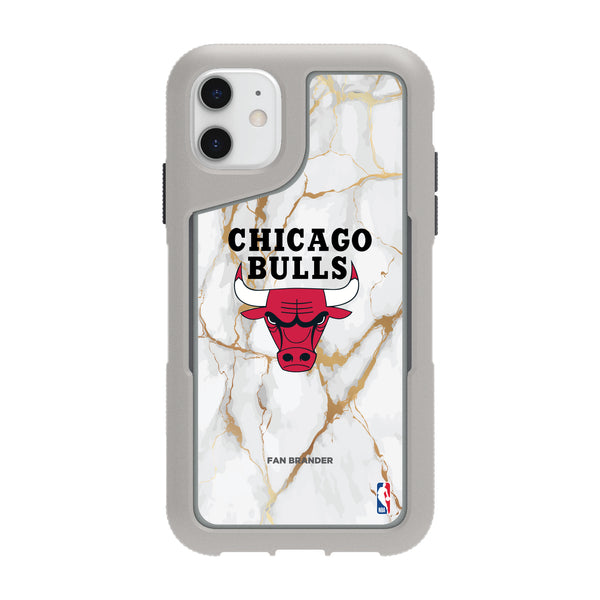 Griffin Survivor Endurance cool grey Phone case with Chicago Bulls White Marble Design