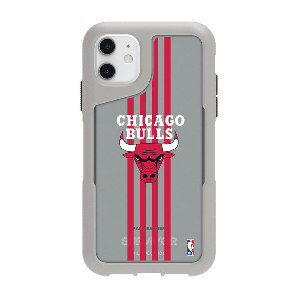 Griffin Survivor Endurance cool grey Phone case with Chicago Bulls Primary Logo with Vertical Stripe