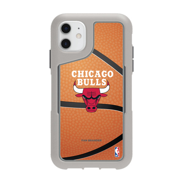 Griffin Survivor Endurance cool grey Phone case with Chicago Bulls Basketball Background