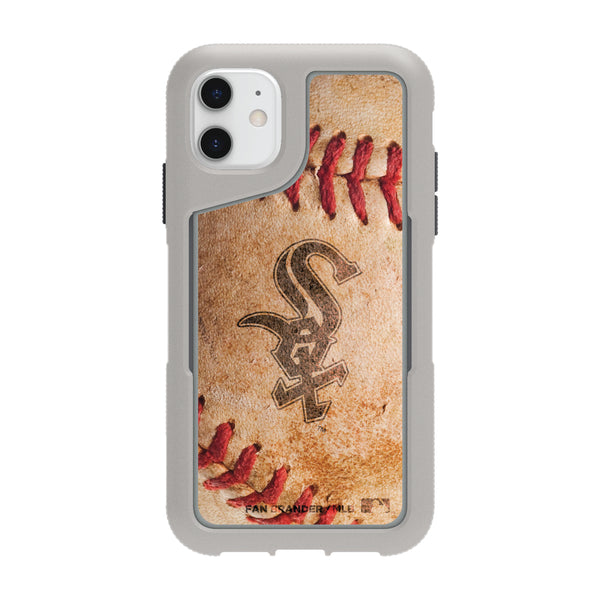 Griffin Survivor Endurance cool grey Phone case with Chicago White Sox Primary Logo and Baseball Design
