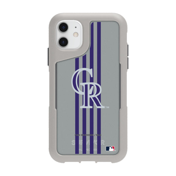 Griffin Survivor Endurance cool grey Phone case with Colorado Rockies Primary Logo with Vertical Stripe