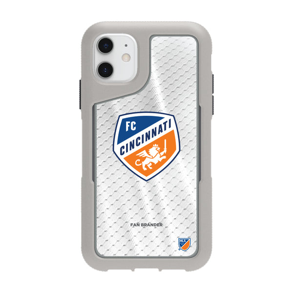 Griffin Survivor Endurance cool grey Phone case with FC Cincinnati Primary Logo with Jersey design