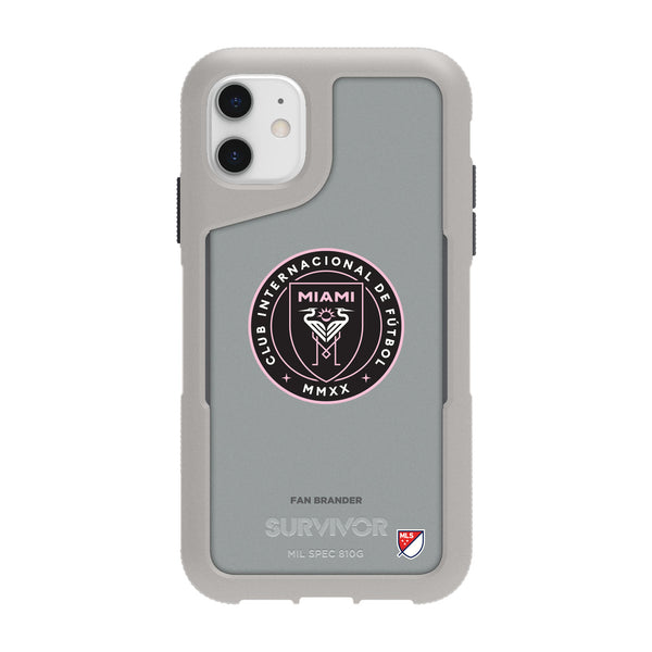 Griffin Survivor Endurance cool grey Phone case with Inter Miami CF Primary Logo