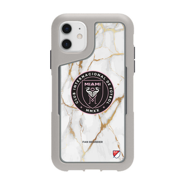 Griffin Survivor Endurance cool grey Phone case with Inter Miami CF White Marble Design