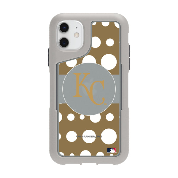 Griffin Survivor Endurance cool grey Phone case with Kansas City Royals Primary Logo with Polka Dots