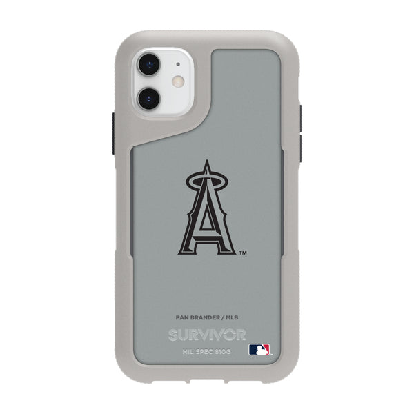 Griffin Survivor Endurance cool grey Phone case with Los Angeles Angels Primary Logo in Black