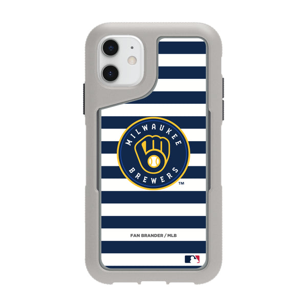 Griffin Survivor Endurance cool grey Phone case with Milwaukee Brewers Primary Logo with Stripes