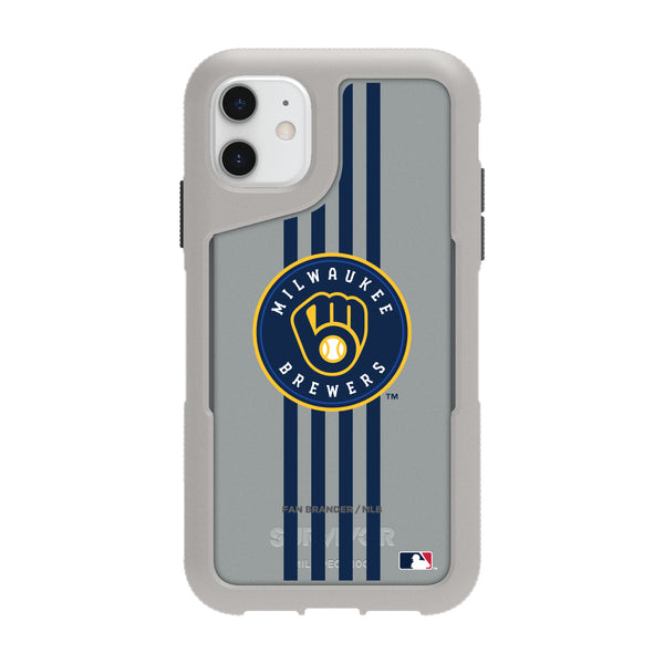 Griffin Survivor Endurance cool grey Phone case with Milwaukee Brewers Primary Logo with Vertical Stripe
