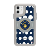 Griffin Survivor Endurance cool grey Phone case with Milwaukee Brewers Primary Logo with Polka Dots