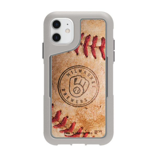 Griffin Survivor Endurance cool grey Phone case with Milwaukee Brewers Primary Logo and Baseball Design