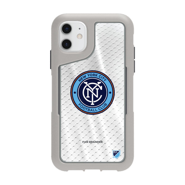 Griffin Survivor Endurance cool grey Phone case with New York City FC Primary Logo with Jersey design