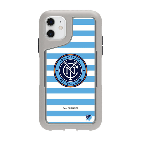 Griffin Survivor Endurance cool grey Phone case with New York City FC Primary Logo with Stripes
