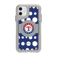 Griffin Survivor Endurance cool grey Phone case with Texas Rangers Primary Logo with Polka Dots