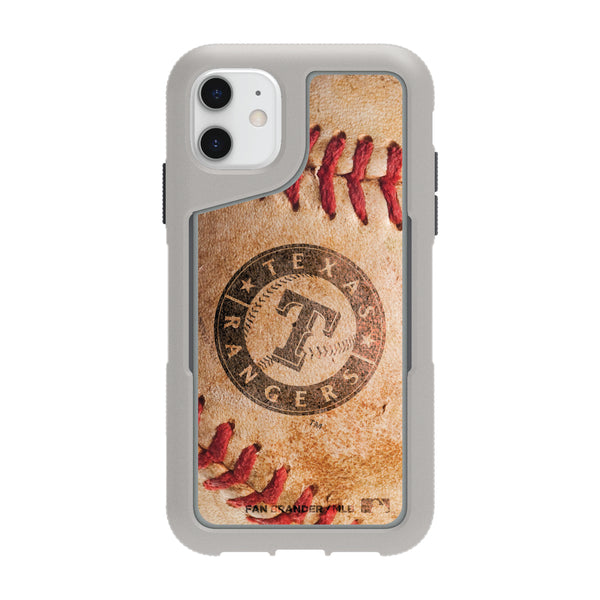 Griffin Survivor Endurance cool grey Phone case with Texas Rangers Primary Logo and Baseball Design