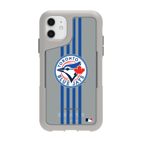 Griffin Survivor Endurance cool grey Phone case with Toronto Blue Jays Primary Logo with Vertical Stripe