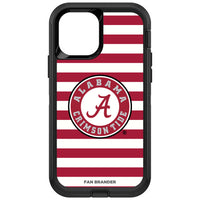 OtterBox Black Phone case with Alabama Crimson Tide Primary Logo and Striped Design