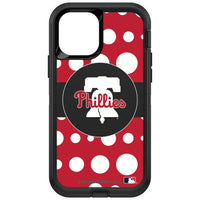 OtterBox Black Phone case with Philadelphia Phillies Primary Logo and Polka Dots Design