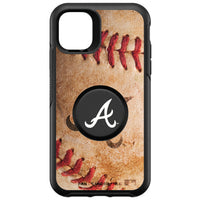 OtterBox Otter + Pop symmetry Phone case with Atlanta Braves Primary Logo with Baseball Design