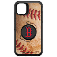 OtterBox Otter + Pop symmetry Phone case with Boston Red Sox Primary Logo with Baseball Design