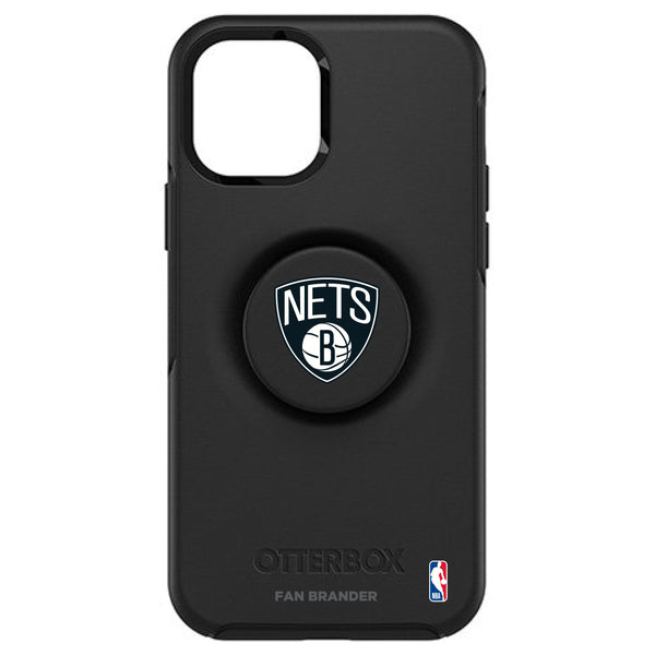 OtterBox Otter + Pop symmetry Phone case with Brooklyn Nets Primary Logo