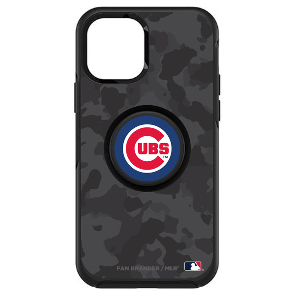 OtterBox Otter + Pop symmetry Phone case with Chicago Cubs Urban Camo background