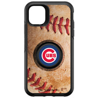 OtterBox Otter + Pop symmetry Phone case with Chicago Cubs Primary Logo with Baseball Design