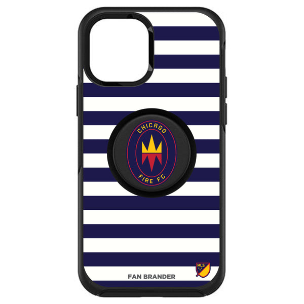 OtterBox Otter + Pop symmetry Phone case with Chicago Fire Primary Logo with Stripes