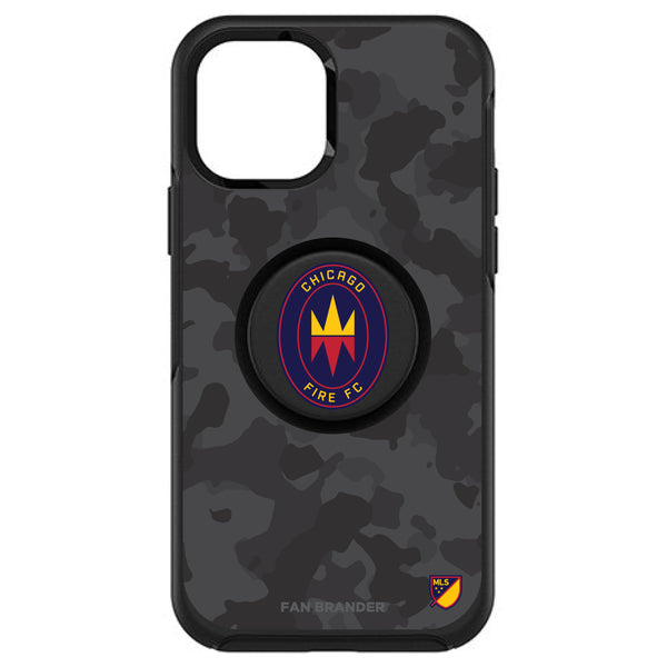 OtterBox Otter + Pop symmetry Phone case with Chicago Fire Urban Camo design