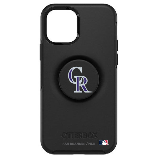 OtterBox Otter + Pop symmetry Phone case with Colorado Rockies Primary Logo