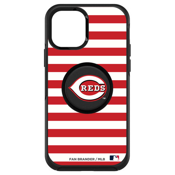 OtterBox Otter + Pop symmetry Phone case with Cincinnati Reds Primary Logo and Striped Design