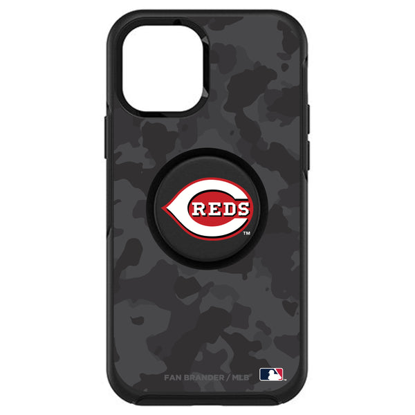 OtterBox Otter + Pop symmetry Phone case with Cincinnati Reds Urban Camo background