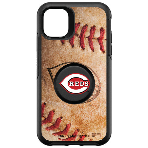 OtterBox Otter + Pop symmetry Phone case with Cincinnati Reds Primary Logo with Baseball Design