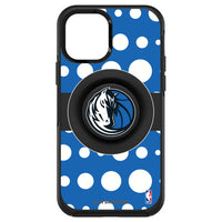 OtterBox Otter + Pop symmetry Phone case with Dallas Mavericks Primary Logo Polka Dots design