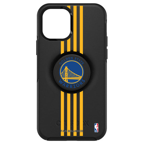 OtterBox Otter + Pop symmetry Phone case with Golden State Warriors Primary Logo with Vertical Stripes