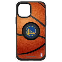OtterBox Otter + Pop symmetry Phone case with Golden State Warriors Primary Logo with Basketball Background