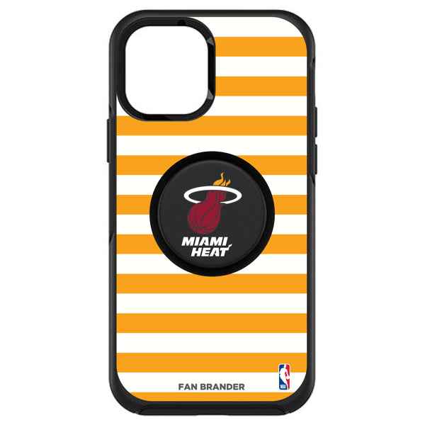 OtterBox Otter + Pop symmetry Phone case with Miami Heat Primary Logo with Stripes