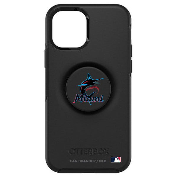 OtterBox Otter + Pop symmetry Phone case with Miami Marlins Primary Logo