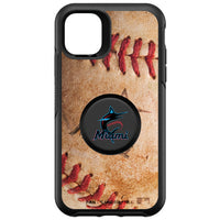 OtterBox Otter + Pop symmetry Phone case with Miami Marlins Primary Logo with Baseball Design