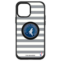 OtterBox Otter + Pop symmetry Phone case with Minnesota Timberwolves Primary Logo with Stripes