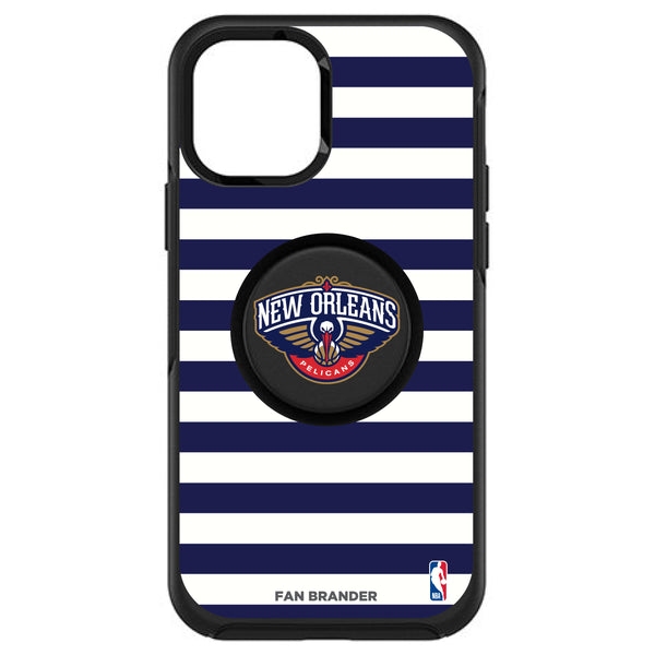 OtterBox Otter + Pop symmetry Phone case with New Orleans Pelicans Primary Logo with Stripes