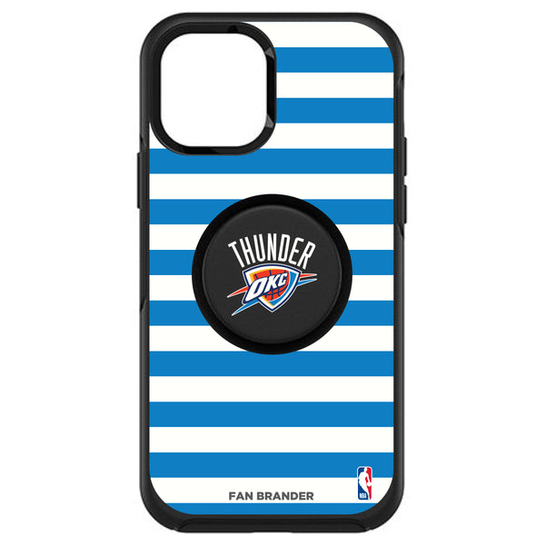 OtterBox Otter + Pop symmetry Phone case with Oklahoma City Thunder Primary Logo with Stripes
